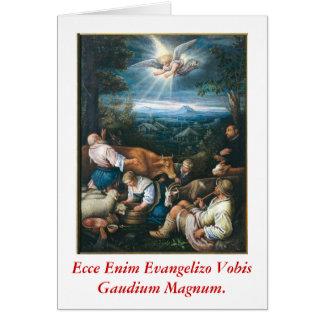 Evangelizo Gaudium Magnum Scida Greeting Card