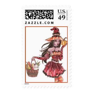 Evania - Witch Postage Stamp