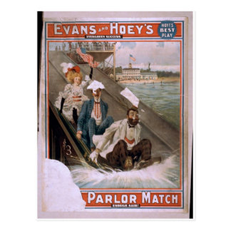 Evan's and Hoey's, 'Parlor Match' Retro Theater Postcard