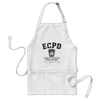Evans City Police Department Zombie Task Force Adult Apron