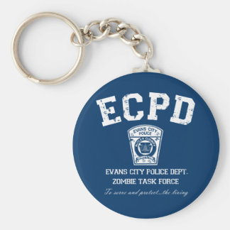 Evans City Police Department Zombie Task Force Keychain
