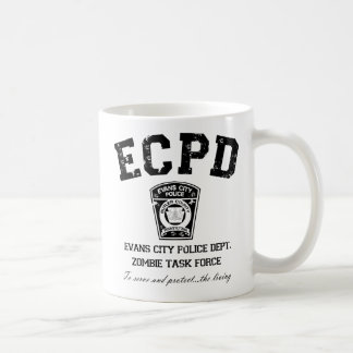 Evans City Police Department Zombie Task Force Classic White Coffee Mug