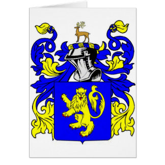 Evans Coat of Arms Card