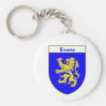 Evans Coat of Arms/Family Crest (Wales) Basic Round Button Keychain