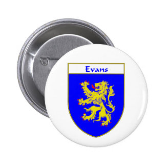 Evans Coat of Arms/Family Crest (Wales) Button