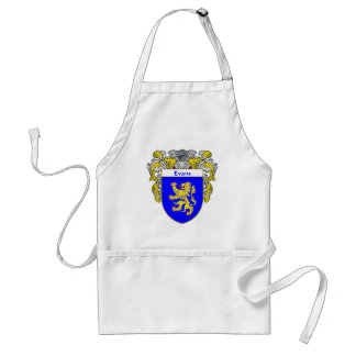 Evans Coat of Arms Wales (Mantled) Adult Apron