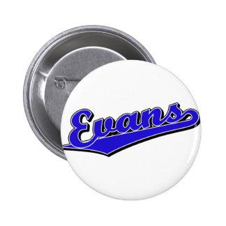 Evans en azul pin redondo 5 cm