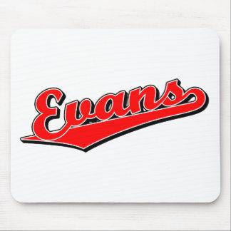 Evans en rojo tapete de raton