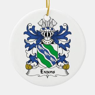 Evans Family Crest Ceramic Ornament