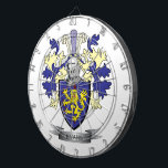 """Evans Family Crest Coat of Arms Dartboard With Darts<br><div class=""""desc"""">Evans family crest,  Welsh Evans coat of arms. Unique gifts for men with Evans surname,  affordable gifts for women with Evans last name.</div>"""