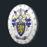 "Evans Family Crest Coat of Arms Dartboard With Darts<br><div class=""desc"">Evans family crest,  Welsh Evans coat of arms. Unique gifts for men with Evans surname,  affordable gifts for women with Evans last name.</div>"