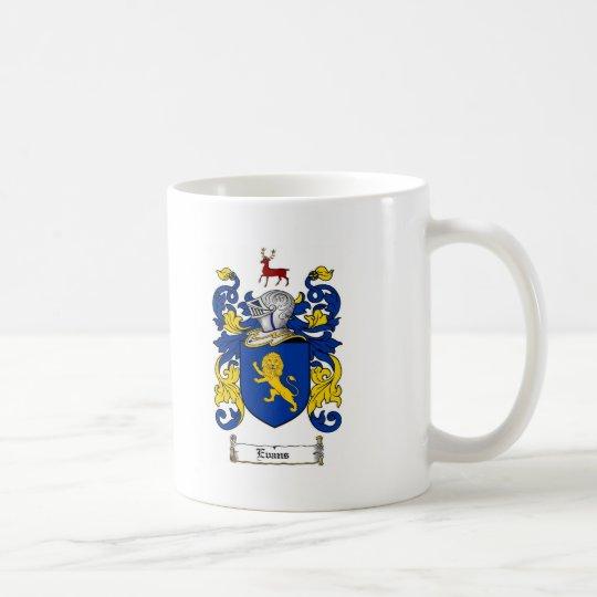 EVANS FAMILY CREST -  EVANS COAT OF ARMS COFFEE MUG