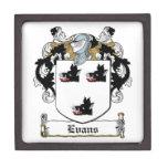 Evans Family Crest Premium Jewelry Boxes