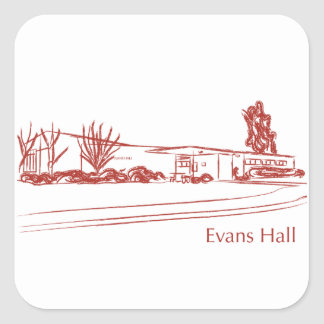 Evans Hall Square Sticker