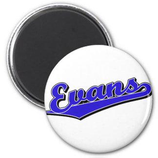 Evans in Blue 2 Inch Round Magnet
