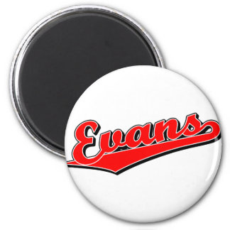 Evans in Red 2 Inch Round Magnet