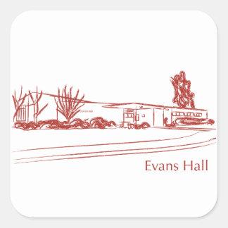 Evans Pasillo Pegatina Cuadrada