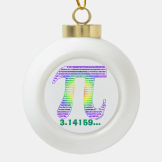 Evan's Pi #1 Ceramic Ball Christmas Ornament