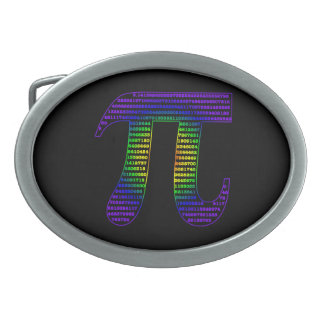 Evan's Pi #1 Oval Belt Buckle
