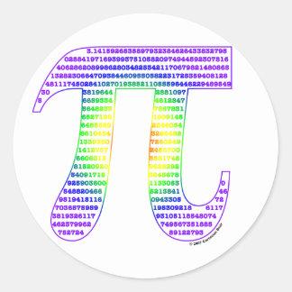 Evan's Pi #1 Round Sticker