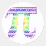 Evan's Pi #1 Sticker Round Sticker