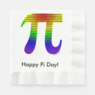 Evan's Pi #2 Coined Luncheon Napkin