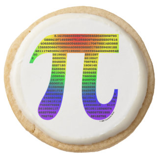 Evan's Pi #2 Round Premium Shortbread Cookie