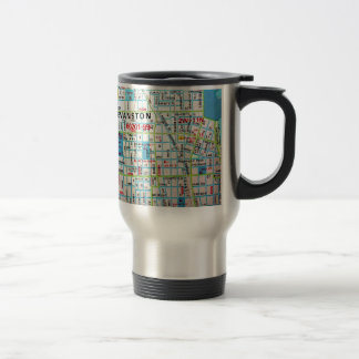 EVANSTON, IL Vintage Map Travel Mug