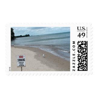 Evanston, Illinois Lighthouse Beach Postage Stamp
