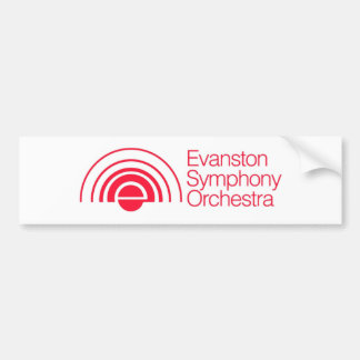 Evanston Symphony Orchestra Car Bumper Sticker