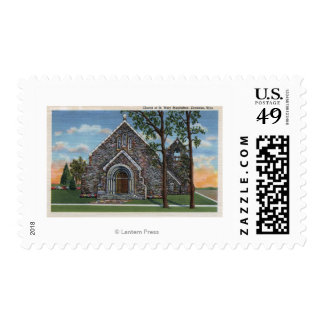 Evanston, WY - Church of St. Mary Magdalene View Postage