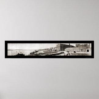 Evansville EN la foto 1907 del panorama Póster