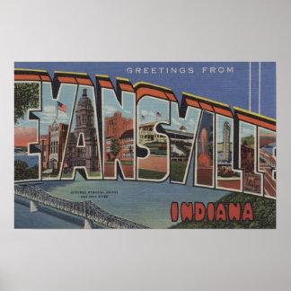Evansville, Indiana - escenas grandes de la letra Póster