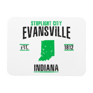 USA Themed Evansville Magnet