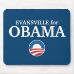 EVANSVILLE para el personalizado de Obama su ciuda Alfombrilla De Raton