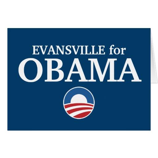 EVANSVILLE para el personalizado de Obama su ciuda Tarjetón