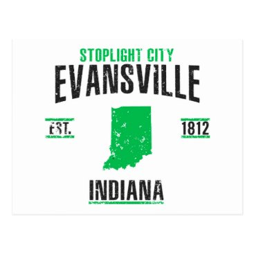 USA Themed Evansville Postcard