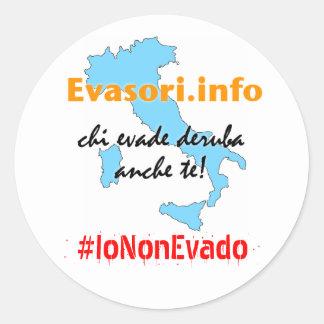 Evasori.info: adesivi #IoNonEvado Stickers