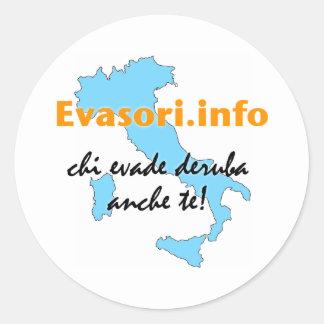 Evasori.info: adesivi piccoli classic round sticker