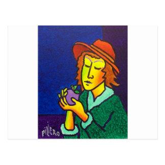 Eve and Apple Postcard