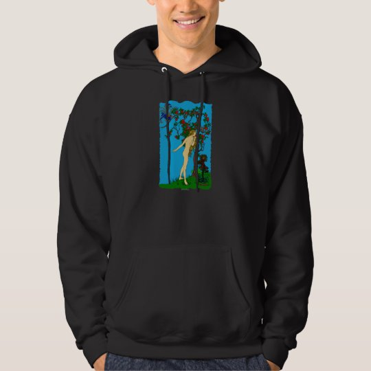 Eve and The Serpent at the Tree of Knowledge Hoodie