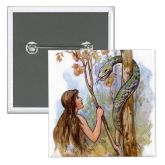 Eve And The Serpent Pinback Button
