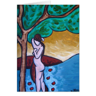 Eve and The Tree of Knowledge Greeting Card