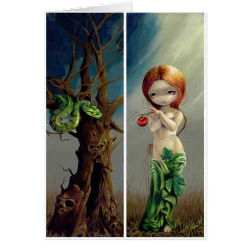 """""""Eve and the Tree of Knowledge"""" Greeting Card"""