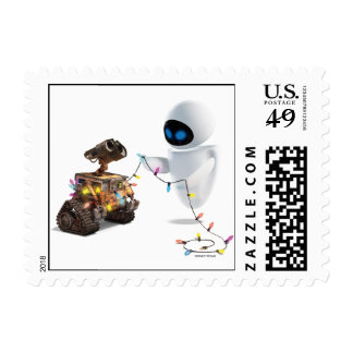 Eve and WALL-E with Christmas Lights Stamps