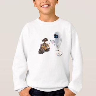 Eve and WALL-E with Christmas Lights Sweatshirt