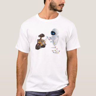 Eve and WALL-E with Christmas Lights T-Shirt