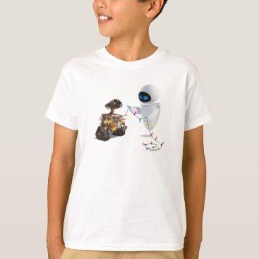 Christmas Themed Eve and WALL-E with Christmas Lights T-Shirt
