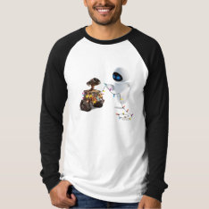 Eve and WALL-E with Christmas Lights T Shirts at Zazzle