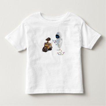 Christmas Themed Eve and WALL-E with Christmas Lights Toddler T-shirt